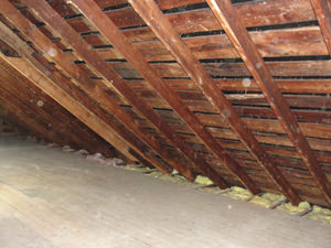 A Southern Maine & Seacoast New Hampshire attic before installation of SuperAttic