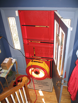 Blower door test for Portsmouth homes
